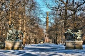 Berlin Großer Tiergarten winter